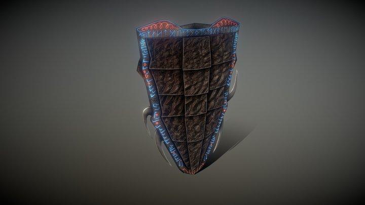 Runic Dragonscale Shield 3D Model