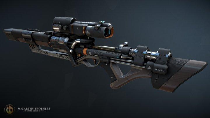 Ronan Rifle 3D Model