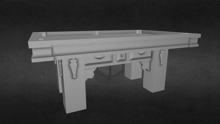 LOW POLY POOL TABLE / BILLAR 3D Model