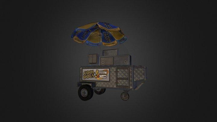 Hotdog Stall 3D Model
