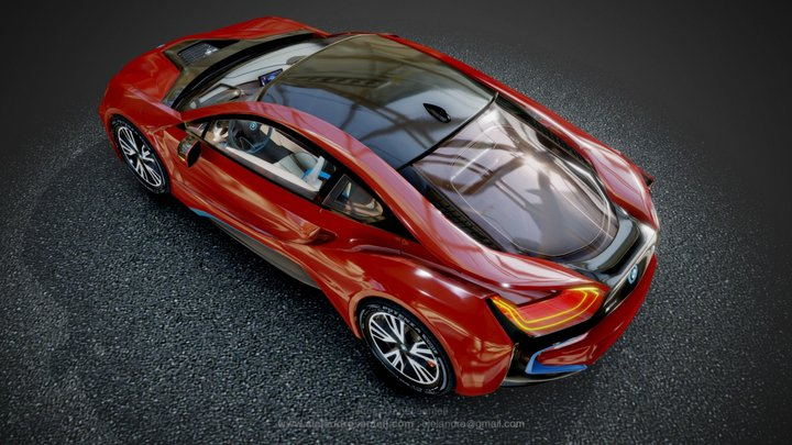 The BMW i8 Protonic Red Edition 2016 3D Model