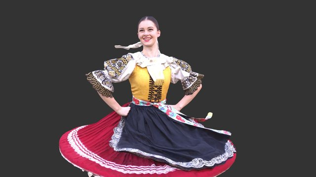 Folk girl (Orešany, Slovakia) 3D Model