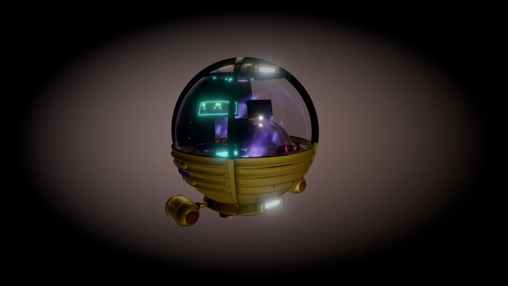 Spherical  Submersible 3D Model