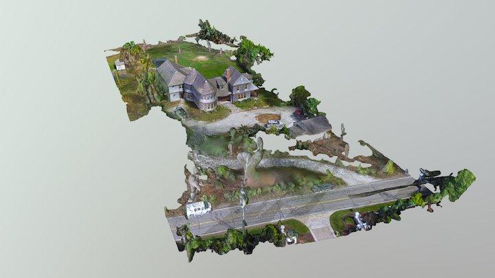 Cape Cod Residence Simplified 3d Mesh 3D Model