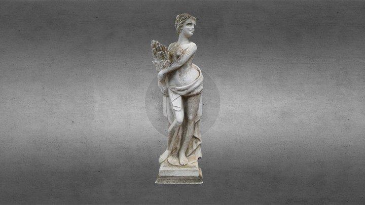 Statua di ninfa Villa Graziella Govone 3D Model