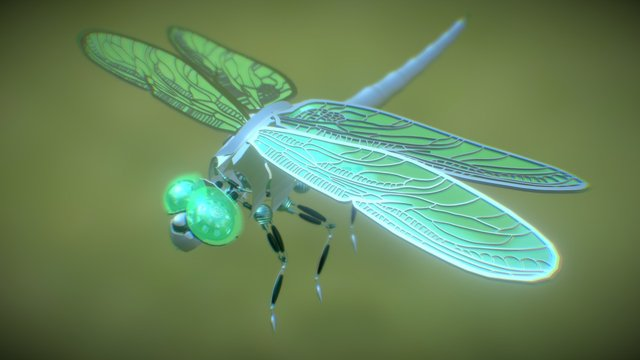 DRAGONFLY ROBOT by Josephine Tribbensee 3D Model