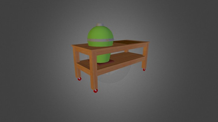 Kamado Customs Six Foot Table 3D Model