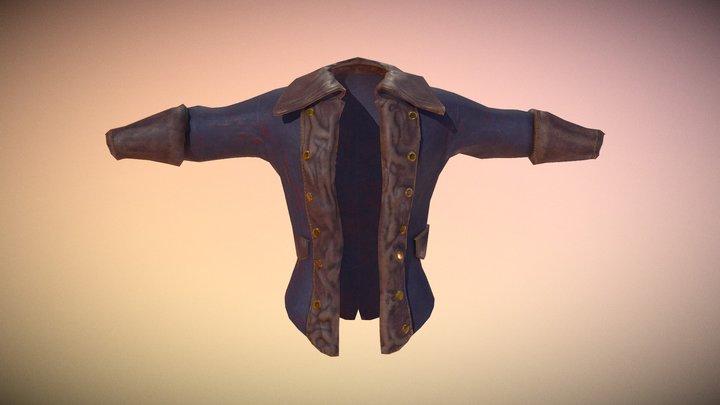 Free Pirate Coat 3D Model