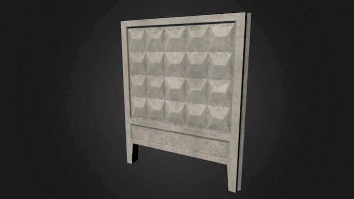 Soviet concrete block 3D Model