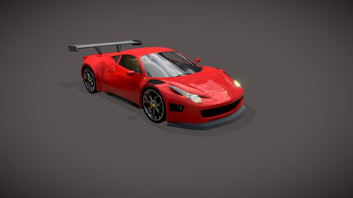 Ferrari 458 Italia (Animated) 3D Model