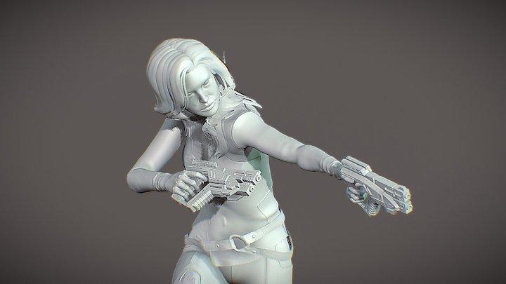 Character Miranda Lawson 3D remodeling 3D Model