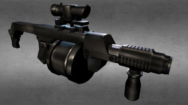 South Africa Grenade-launcher 3D Model