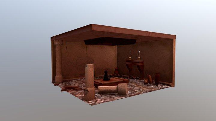Egyptian Altar 3D Model