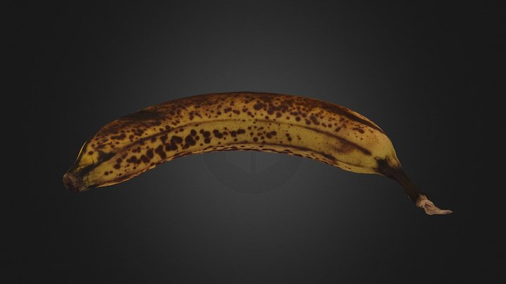 Banana - Bite Sized 3D Model
