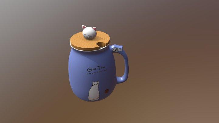 Good Time Cat Cup 3D Model