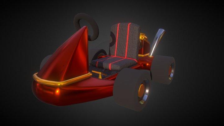 Stylized Kart 3D Model