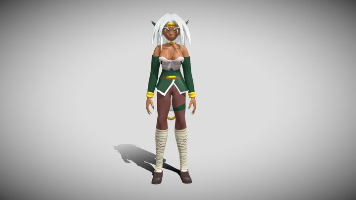 Aisha Clan-Clan from Outlaw Star 3D Model
