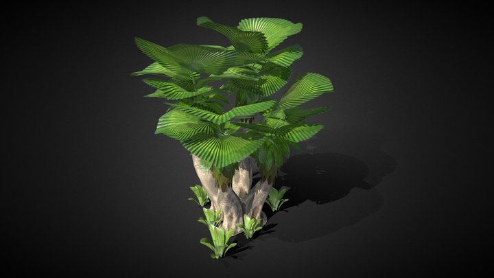 Plant Alien Medium Size 3D Model