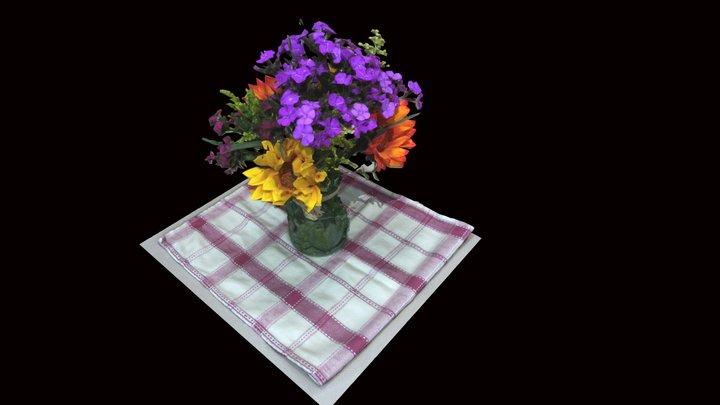 April Flowers 3D Model