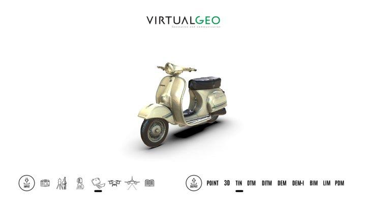 Piaggio Vespa scooter model at 1:18 scale 3D Model
