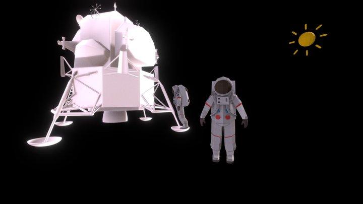 Tilt Brush Exercise - Apollo Moon Landing 3D Model