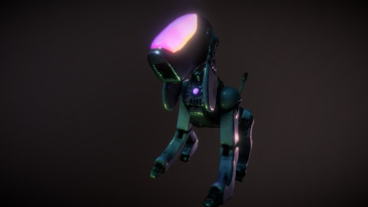 Digital Dog 3D Model
