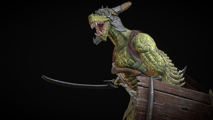 蜥蜴士兵 3D Model