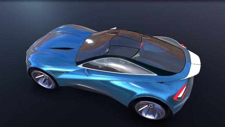 Gravity Sketch- Aston Martin concept Rev2 3D Model