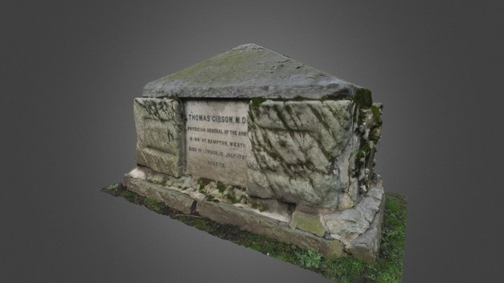 Chest tomb (St. George's Gardens, London) 3D Model