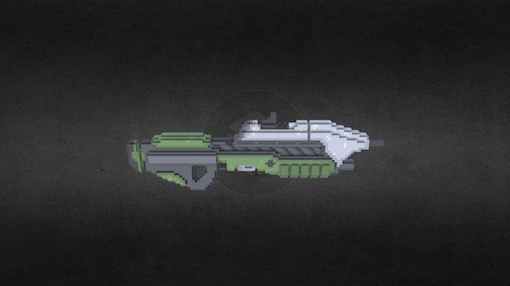 Assault Rifle // {64-bits} 3D Model