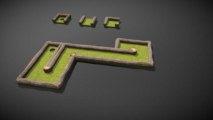 Mini Golf Modules - Demo 3D Model
