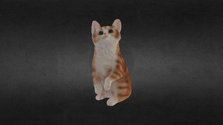 Statuette de chat 3D Model