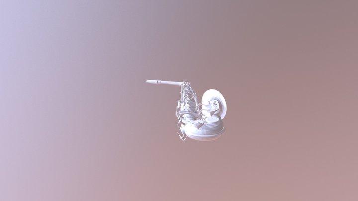 Saxo Low Poly 3D Model
