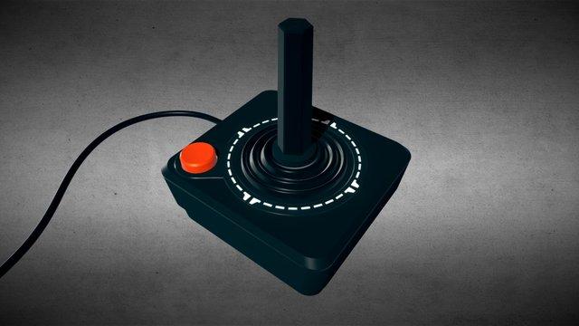 Atari 2600 Joystick 3D Model