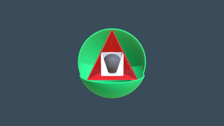 Square The Circle Design V3 3D Model