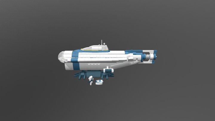 Lego Subnautica Cyclops 1:110 3D Model