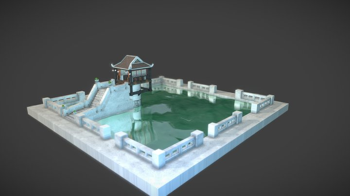 Vietnamese Buddhist Temple 3D Model