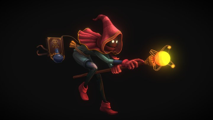 Wizard - Hand painted 3D Model
