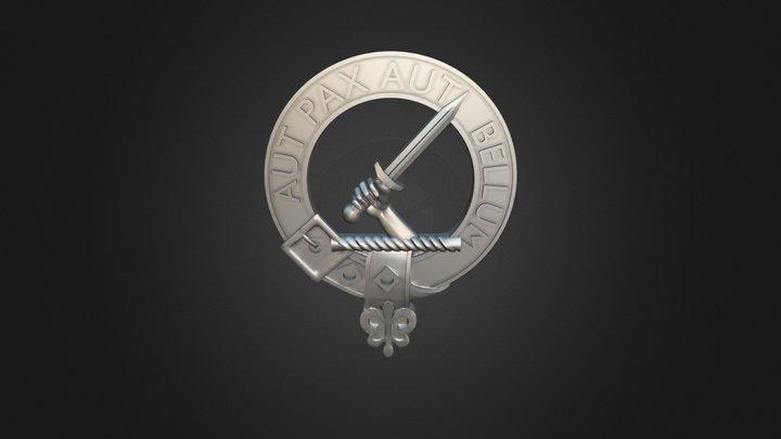 Clan Gunn Crest 3D Model