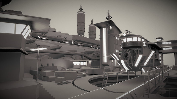 """Service Station """"Longievka"""" 3D Model"""