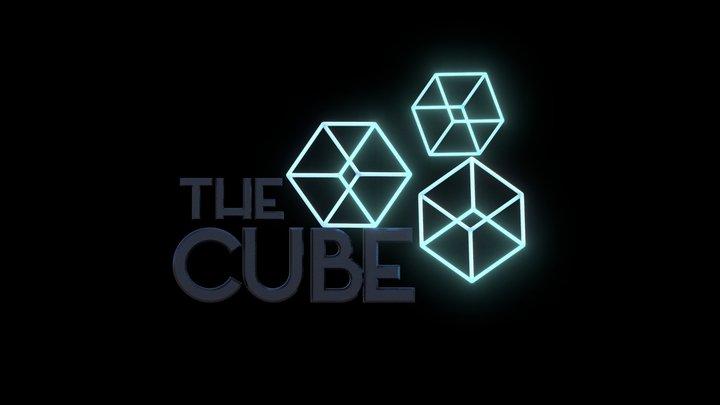 The Cube School Animated Logo 3D Model