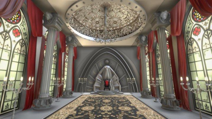 Royal palace great hall 3D Model