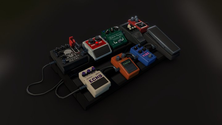 Positive Grid Stomp Box - Rock Band 4 3D Model