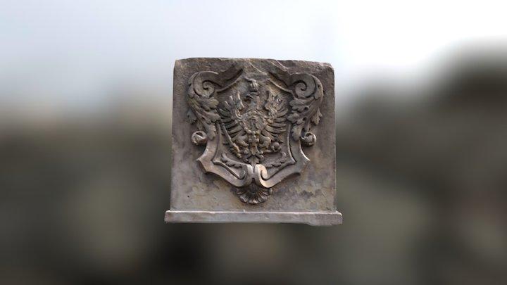 Anna-Ebert Brücke - Preussen Wappen 3D Model