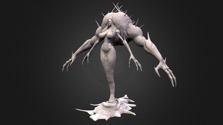Lava Witch LP Bake Preview 3D Model