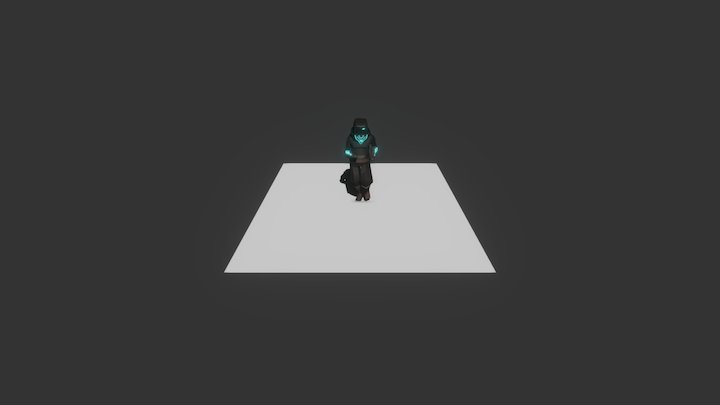 Warrior 0001 Run 3D Model