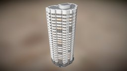 Residential building (Moscow) 3D Model