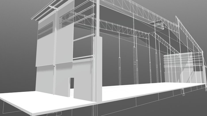 Warehouse Section 01 3D Model