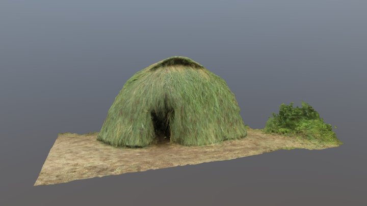 Reconstruction of Mesolithic hut at Swifterkamp 3D Model