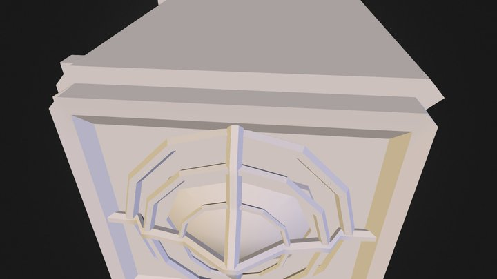 Export Crate Metal 3D Model